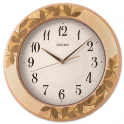 Seiko Wooden Wall Clock QXA708AN