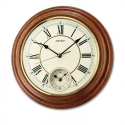 Seiko Wooden Wall Clock QXA494BN