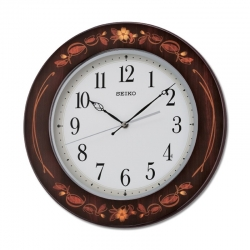 Seiko Wooden Wall Clock QXA647BN