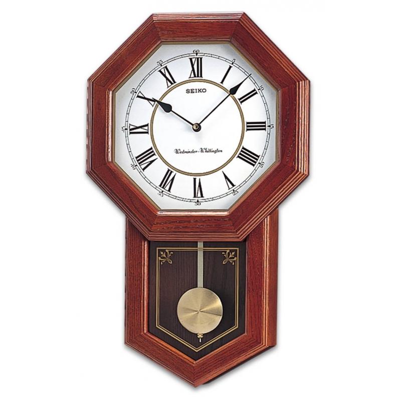 Seiko Pendulum Wall Clock QXH110BN