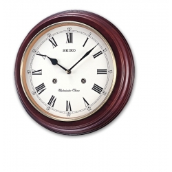 Seiko Wooden Wall Clock QXH202BN