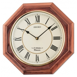Seiko Wooden Wall Clock QXM336BN