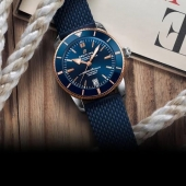 A tribute to the iconic 1957 model, the Superocean Heritage B20 Automatic 42 is the perfect partner for adventure. Reliable and original, it features an ultra-hard, scratchproof high-tech ceramic bezel and steel mesh bracelet. Its steel or steel & gold case is water-resistant to 200 m (660 ft). Housing an officially chronometer-certified self-winding Manufacture caliber, this is a Breitling watch with a mission. #Breitling #Breitlingwatch #BreitlingWatches #breitlingchronograph #breitlingnavitimer #breitlingavenger  #breitlingsuperoceanheritage #CTPundole #CTPundoleHouseofLuxury #CTPundoleWatches #LuxuryWatches #MensWatch #WomensWatch #LuxuryWatch #DailyWatch #WatchCollector #WatchGeek #Horology #WatchuSeek