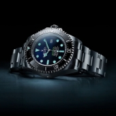 The watch of the deep. The new Rolex Deepsea is made of Oystersteel and sports a D-blue dial with a subtle gradient from deep blue to pitch black, reflecting the ocean's twilight zone. Thanks to its exclusive Ringlock System, it can withstand the colossal pressure exerted by water at a depth of 3,900 metres (12,800 feet). #Rolex #RolexDeepsea #101031 #CTPundole #CTPundoleHouseOfLuxury #OfficialRolexRetailer
