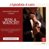 Giveaway Alert!!   WATCH out!!  As we turn 112 years on September 29th, we'd like to show our gratitude to our patrons . We're holding an Anniversary Special Contest. Prize- A special watch customised by CT Pundole & Sons. ⌚  Enter this GiveAway Competition with 4 easy steps: 1.	LIKE and SAVE this post (Click on this 🔽 icon to save the post) 2.	Follow our handle @ctpundole 3.	Tag at-least 3 friends in the comments section of this post and use the hashtag #CTPundole . Tag more friends for more chances to win. [ one tag per comment ]  4.	Share this post as your IG Story, take a screenshot. DM us the screenshot of your story on our handle @ctpundole.  That's it folks, that's all it takes to stand a chance to win a Special customized watch by CT Pundole & Sons!  Eligibility Criteria: 1.	Above 18 yrs of age. 2.	Only valid in India. This competition ends on 5th October, 2020 at 11.59 P.M IST. The results will be announced shortly after on our page and the winner will be notified via Instagram message.  This Giveaway is in no way sponsored by, administered by or associated with Instagram or any other brand. Unfollowing during the giveaway will disqualify you from this event.   TIME is running out friends, WATCH ya waiting for? • • • • •  #CTPundole #CTPundoleWatches  #giveawaycontest #giveaways #giveawaytime #freegiveaways #giveawayalert #giveawayindia #giveaway2020 #2020giveaway #watchgiveaway #shopeegiveaway #giveawaycompetition #contestalert #contesttime #contestentry #contests #contestgram #Punekar #watchesaddicted #Pune #Maharashtra #PuneGiveaway #birthdaycontest #4kgiveaway #indiancontest #contestindia #Punecontest #indiawatches #watchseries